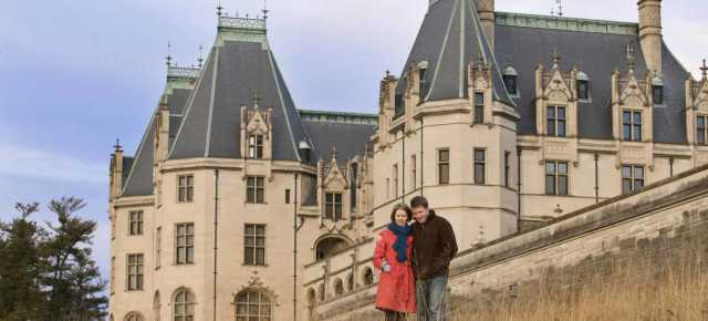 Couple at Biltmore Winter