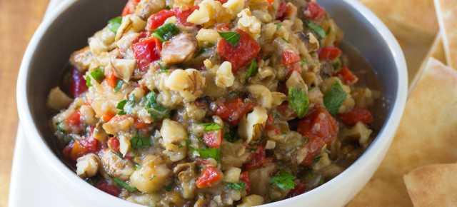 Roasted Eggplant Red Pepper Spread #Recipe | ExploreAsheville.com