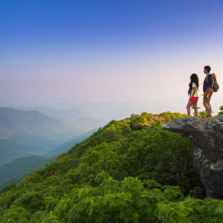 Couple at Craggy Pinnacle
