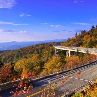 Linn Cove Viaduct in the Fall