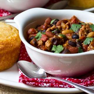 Three Bean Turkey Chipotle Chili #Recipe | ExploreAsheville.com