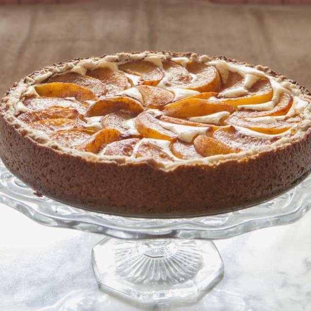 Peach Bavarian Torte #Recipe   ExploreAsheville.com
