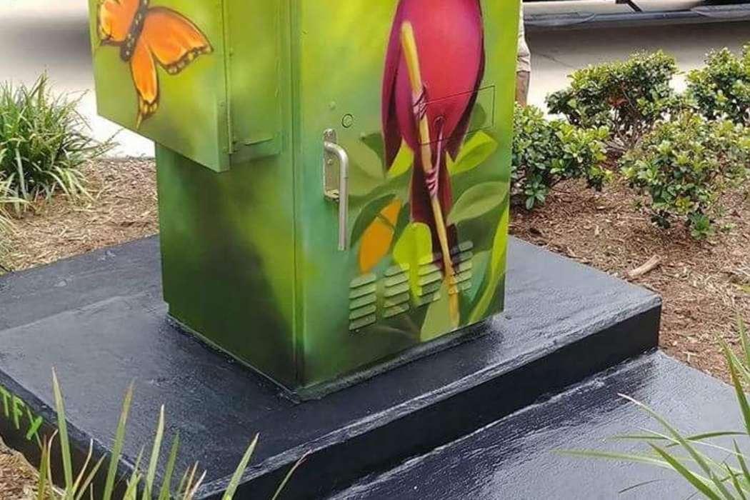 Cardinal & Flower Mini Mural - McKinney & Crawford