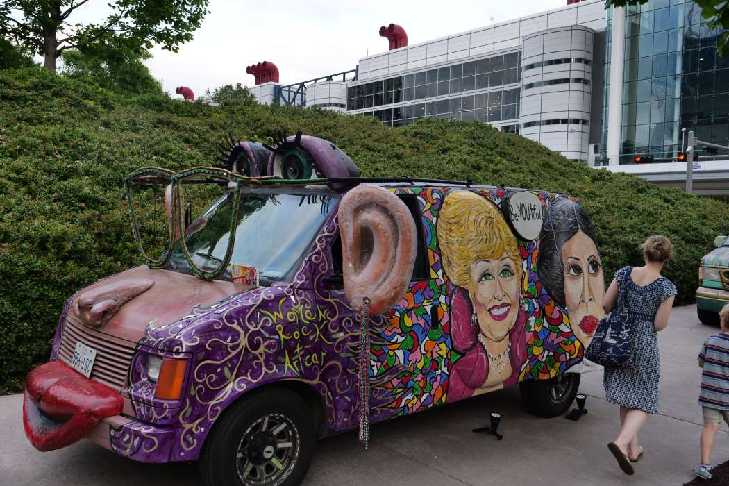Art Cars Sneak Peak at Party on the Plaza
