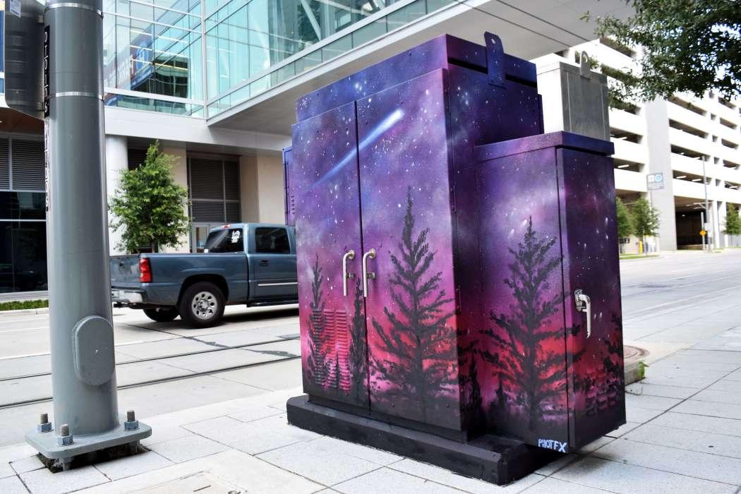 Space Mini Mural - Corner of Rusk & Avenida de las Americas