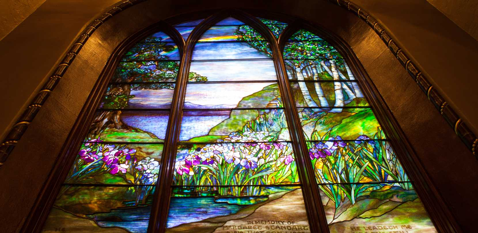 New york cayuga county - Stained Glass Window