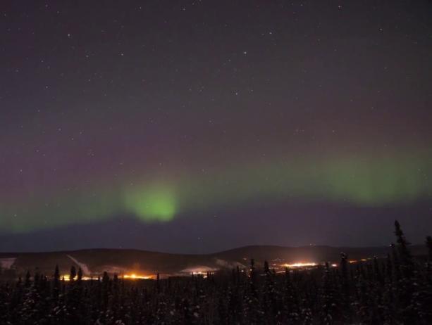 Aurora Timelapse over Fairbanks}