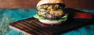 Green chile cheeseburger trail header