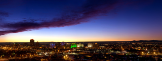 Albuquerque evening panorama