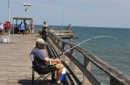 Fiherman on Kure Beach Fishing Pier