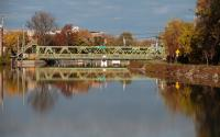 View of Park Ave. Lift Bridge on Erie Canal