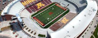 University of Minnesota stadium aerial view