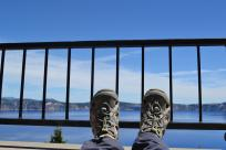 Crater Lake Relaxation - Feet up on the deck chair