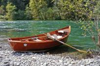 Wood Boat McKenzie River by Rick Obst