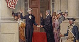 Inauguration - Andrew Jackson depiction