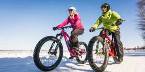 Fat Bikes are a popular way to travel Anchorage's trails in winter.