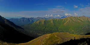 Arctic Valley view of the Chugach Mountains