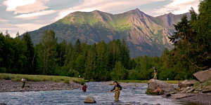 Fishing near Anchorage at bird creek