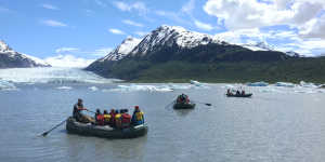 Spencer Glacier rafting trip Chugach Mountains