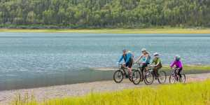 Eklutna Lake biking trip for the whole family