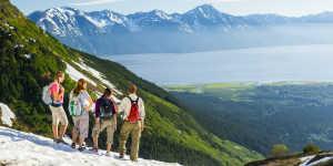 Alyeska Resort hiking trails in the Chugach