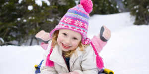 Anchorage winter activities: kids sledding