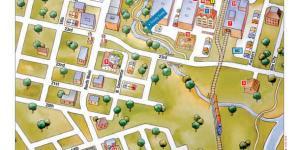 Stockyard District Walking map
