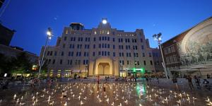 Downtown Sundance Square Plaza Night