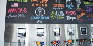 The Craft of Brewing Tap Wall