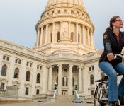 Biking on Capitol Square