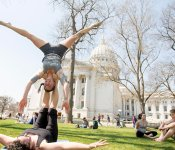 Acrobatics on Capitol Square