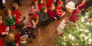 Mrs. Claus visits Shaker VIllage