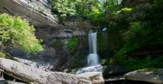 Waterfalls of Cayuga County - Fillmore Glen - Cowshed Falls