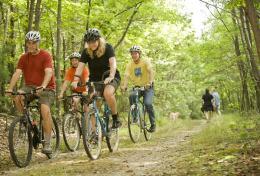 Biking at Michaux Forest