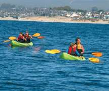 Family Kayaking on Monterey Bay