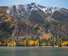 lower twin lakes fall colors