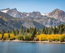 Twin Lakes lower view fall colors
