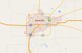 Google map Amarillo