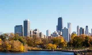 Fall in Lincoln Park Chicago