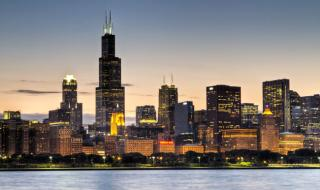 Microsite - Chicago Skyline Night