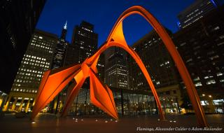 Public Art Chicago: Flamingo, Alexander Calder (1974)