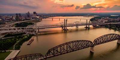 Aerial view of Ohio River and SoIN