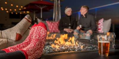 Cozy Fire Pit at Pillar Rooftop Bar