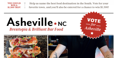 Southern Living Poll: Vote Asheville!