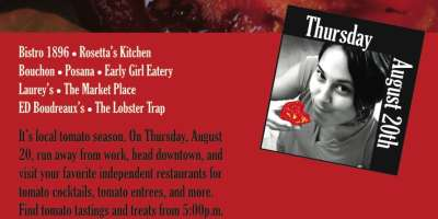 Menu Details for Tomato Walk on Aug. 20