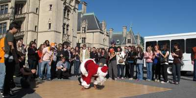 Win a Free Asheville Vacation -- Are you sneaky like Dancing Santa?