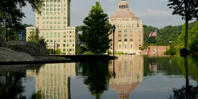 City & County Buildings Reflected