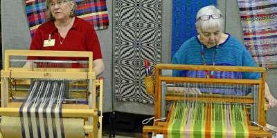 Artisan Weavers at Fiber Day