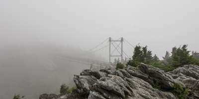 Foggy Grandfather Swinging Bridge