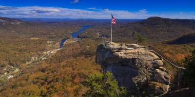 Chimney Rock Park in Fall
